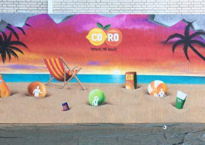 Vægmaleri for Sun-top
