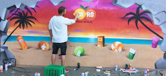 vægmaleri strand