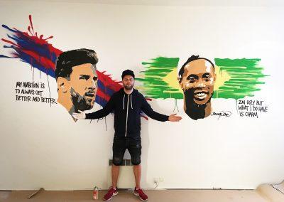 barcelona vægmaleri
