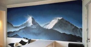 vægmaleri-bjergkæde