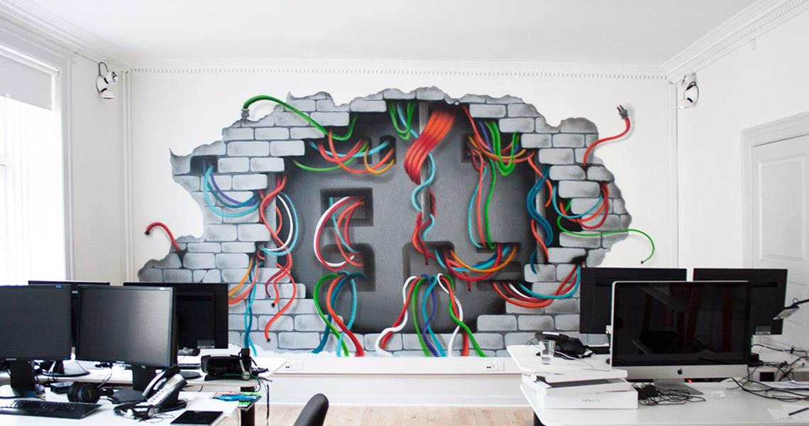 3D vægmaleri