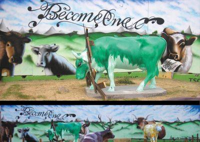 cow parade graffiti udsmykning