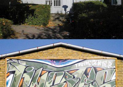 graffiti udsmykning tingbjerg klub
