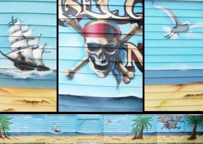 pirat graffiti udsmykning