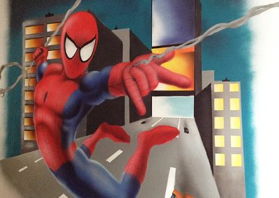 spiderman-painting
