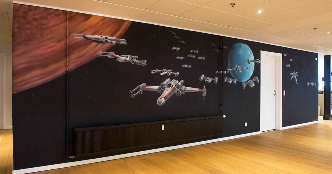 Vægmaleri star wars