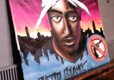 tupac graffiti udsmykning