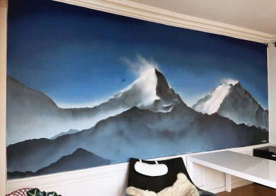 Bjerge vægmaleri