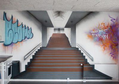 vanløse-stairway-vægmaleri