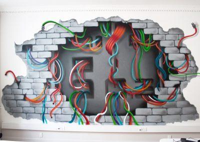 3d vægmaleri 2