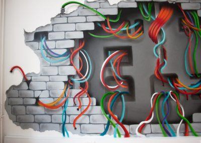 3d vægmaleri 3