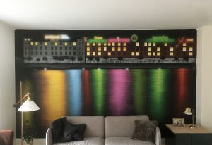 vægmaleri stue