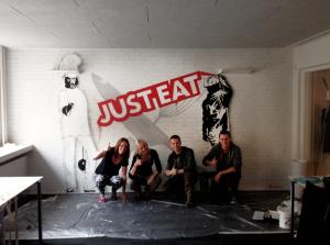 vægmaleri just eat