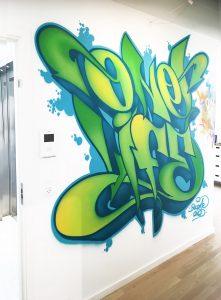 graffiti kunst udføres