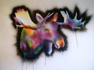 vægmaleri i stue