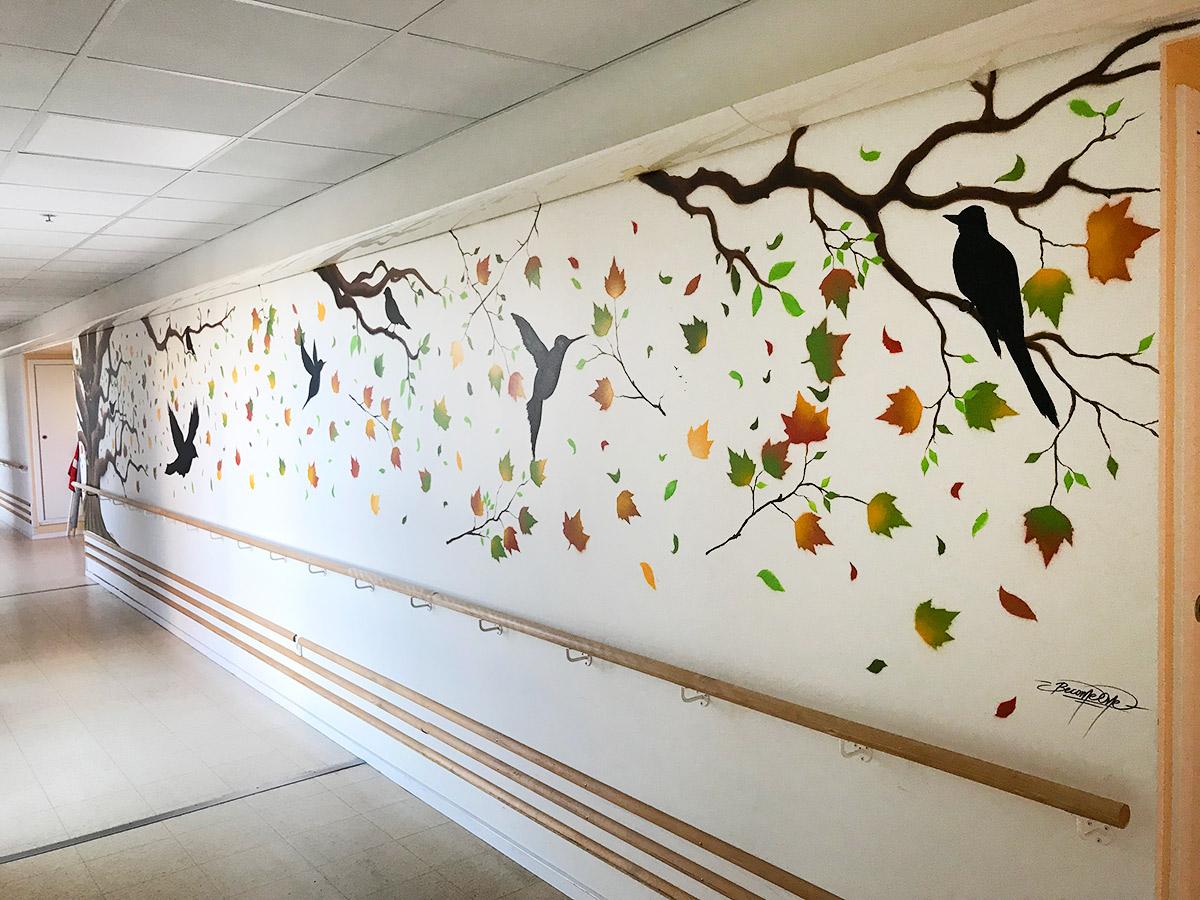 stort vægmaleri