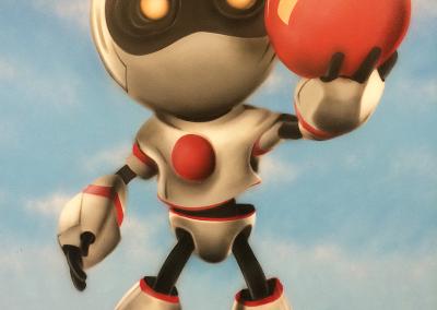 Robot vægmaleri