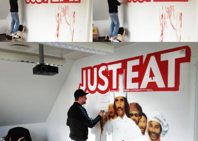 Vægmaleri for Just-eat