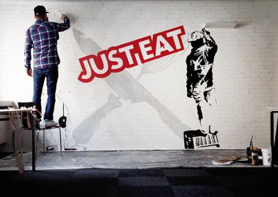 Vægmaleri for Just Eat