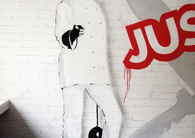 just-eat vægmaleri