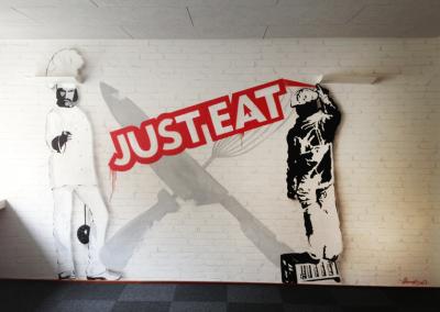 Just eat vægmaleri