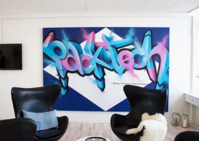 graffiti udsmykning packtech