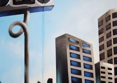 Vertic New York vægmaleri